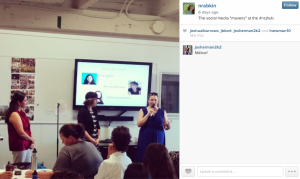 Presenting at the #NCJHub with @see3 (#instagram @naomirabkin)